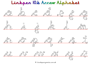 Free Handwriting Worksheet Linkpen10b Arrow Alphabet