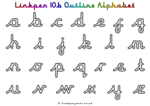Free Handwriting Worksheet Linkpen10b Outline Alphabet
