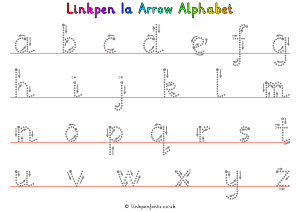 Free Handwriting Worksheet Linkpen1a Arrow Alphabet