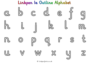 Free Handwriting Worksheet Linkpen1a Outline Alphabet
