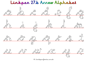Free Handwriting Worksheet Linkpen27b Arrow Alphabet