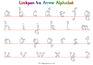Free Handwriting Worksheet Linkpen4a Arrow Alphabet