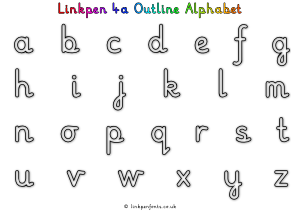Free Handwriting Worksheet Linkpen4a Outline Alphabet