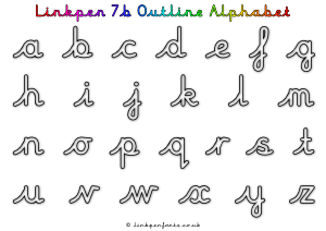 Free Handwriting Worksheet Linkpen7b Outline Alphabet