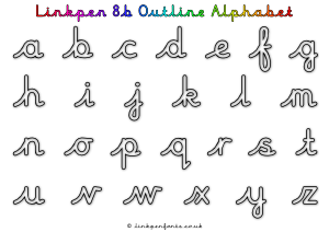 Free Handwriting Worksheet Linkpen8b Outline Alphabet